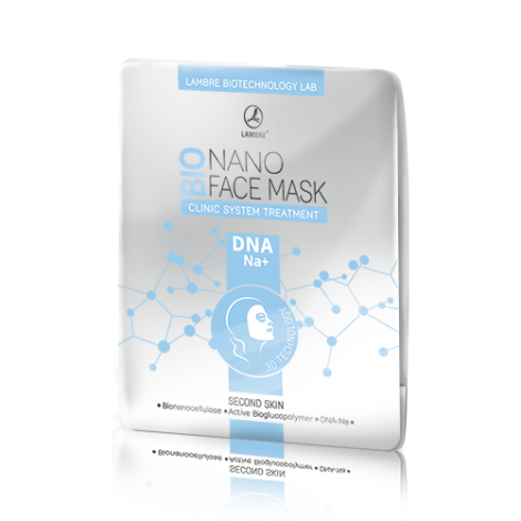 BIONANO FACE MASK DNA-NA+ - бионаноцеллюлозная маска для лица с DNA-Na